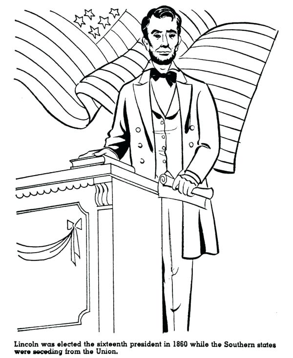 600x734 Abe Lincoln Coloring Page Free Download Coloring Page Abe Lincoln