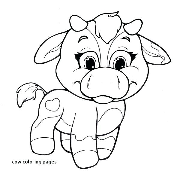 600x589 Coloring Pages For Kids Easter Cow Image Detail Page With Cute