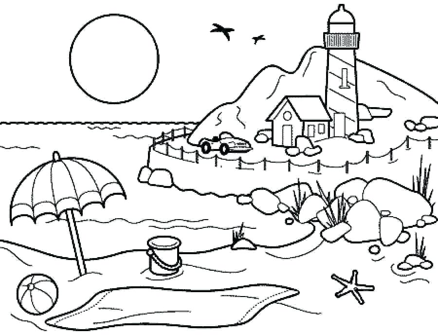 900x688 Drawing And Coloring Coloring Pages Summer Season Pictures
