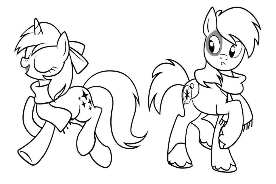 960x640 Perfect My Little Ponies Coloring Pages In Line Drawings