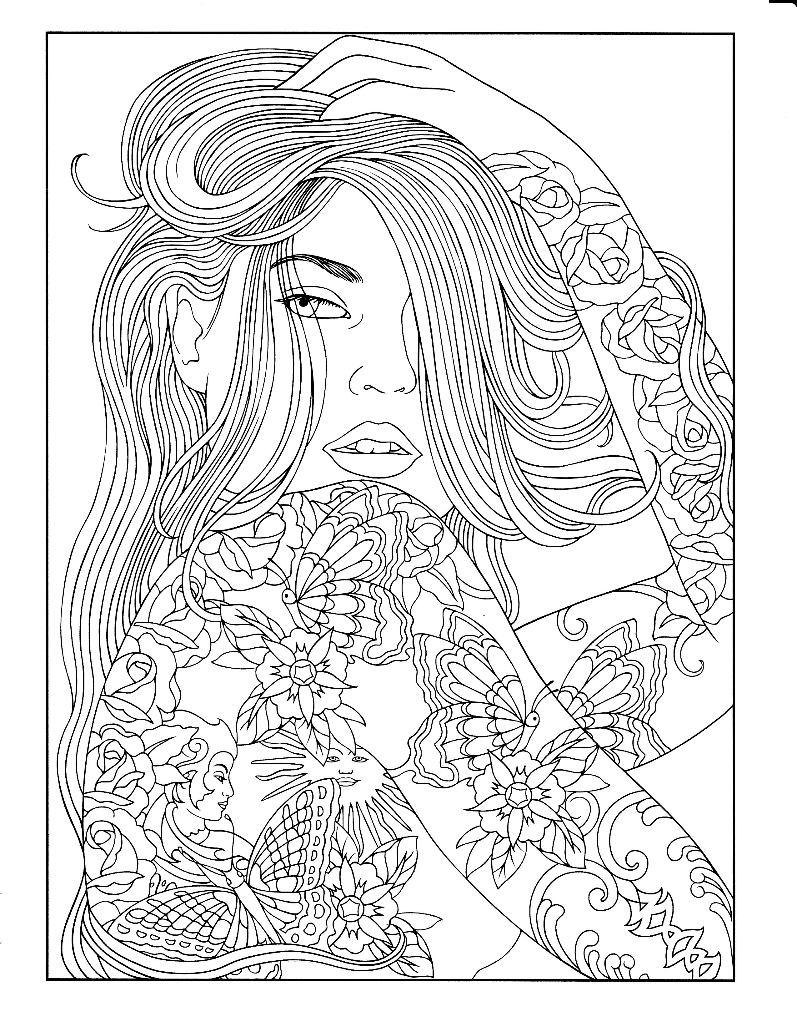 2550x3300 Printable Coloring Page