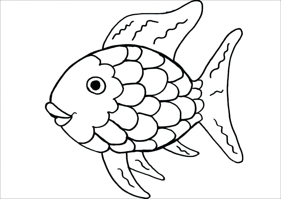 945x668 Coloring Pages Fish Fish Coloring Page Fish Line Drawing Fish