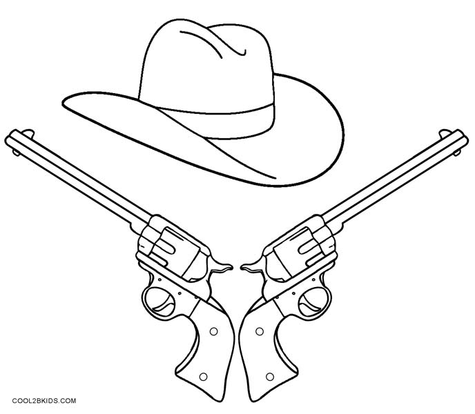 688x600 Printable Cowboy Coloring Pages For Kids