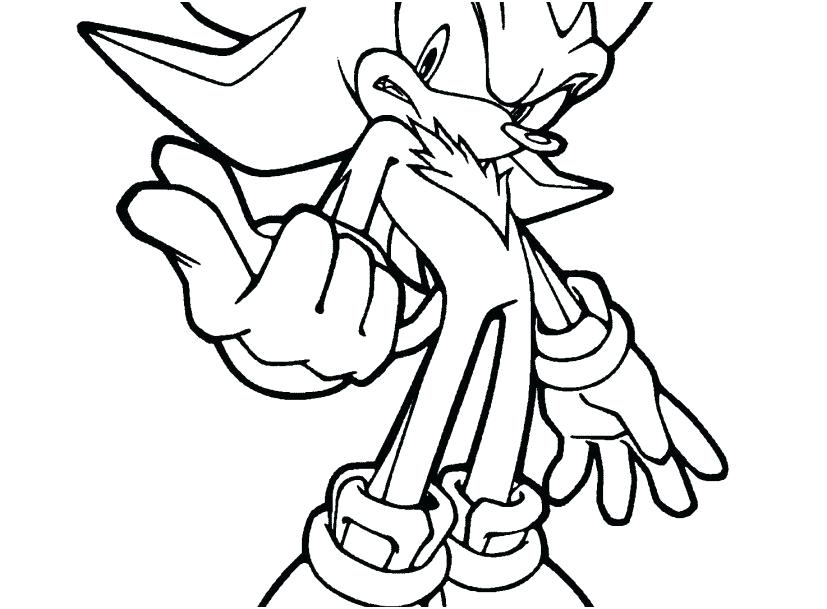827x609 Sonic Coloring Pages Printable Sonic Line Coloring Pages Printable