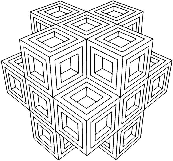 736x685 Printable Geometric Coloring Pages Unique Geometric Coloring