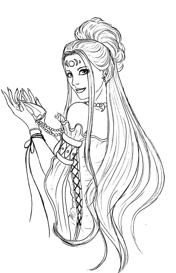 600x929 Aphrodite, Stunning Picture Of Aphrodite Coloring Page