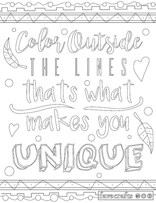 500x649 Color Outside The Lines Adult Coloring Page