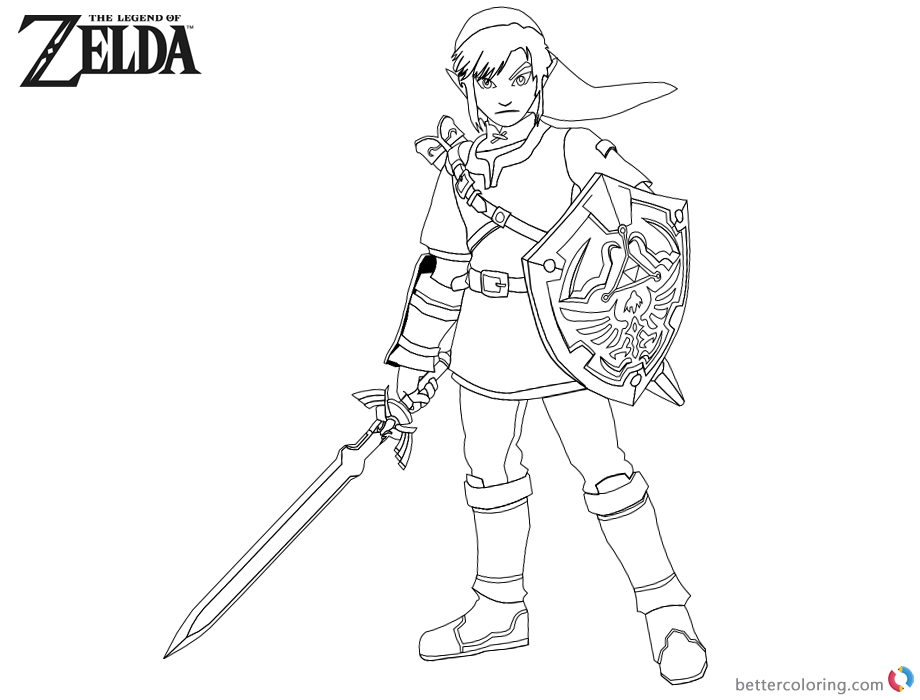 Link Coloring Pages Pictures toon Link Coloring Pages - YonjaMedia.com | 700x920