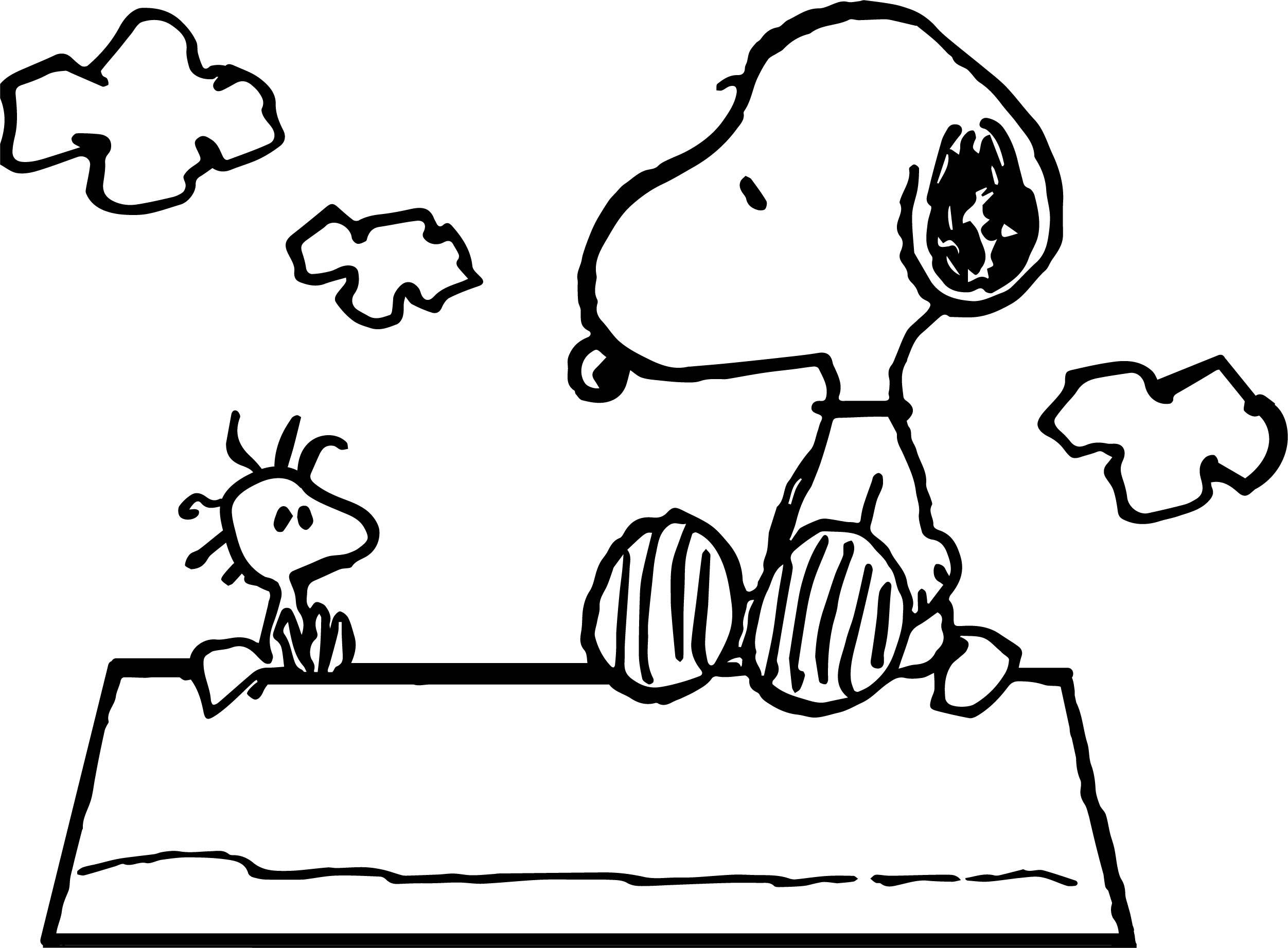 2503x1843 Fascinating Celebrity Image Peanuts Snoopy Woodstock Coloring Page