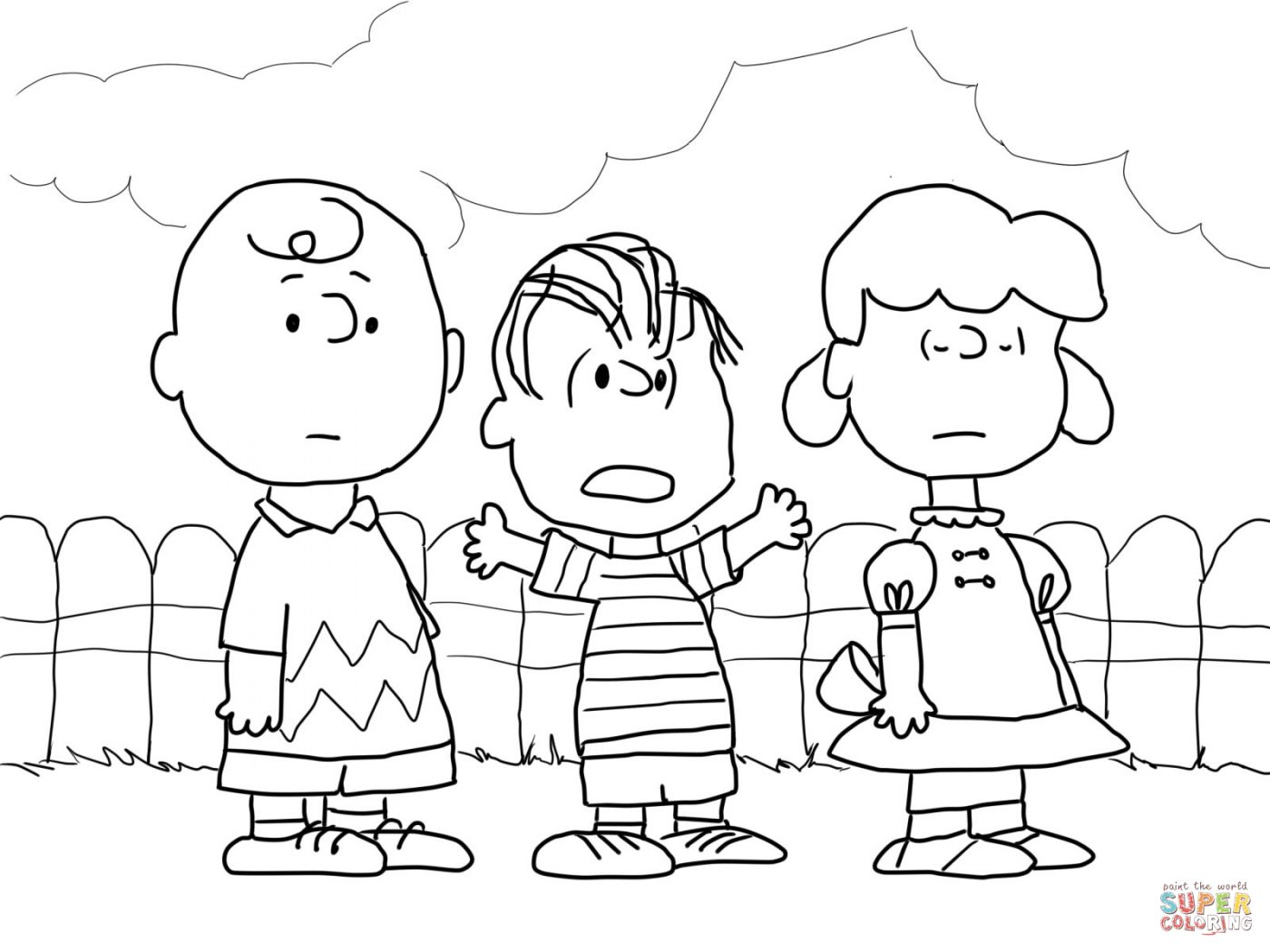 1400x1050 Charlie Brown Christmas Coloring Pages Pictures High Resolution