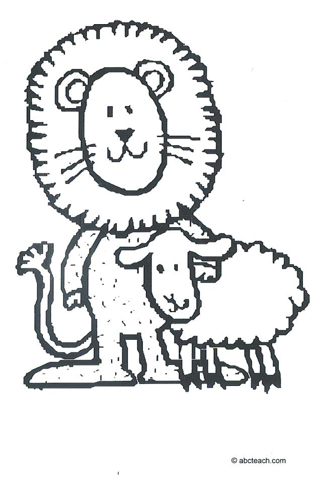 640x961 Coloring Pages Of Lion And Lamb Coloring Page Lion And Lamb
