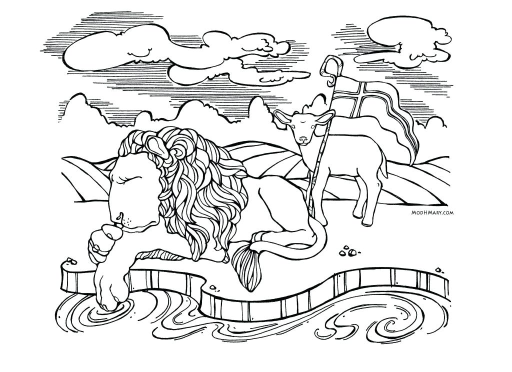 1024x744 Disney Coloring Pages Lion King Lamb Catholic Page