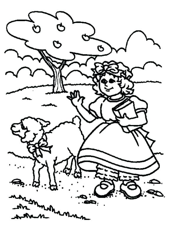 600x772 Lamb Coloring Pages Drawing Had A Little Lamb Coloring Pages March