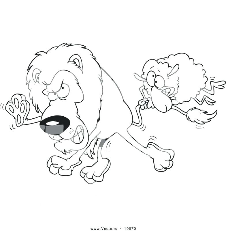 784x800 Lion And Lamb Coloring Pages