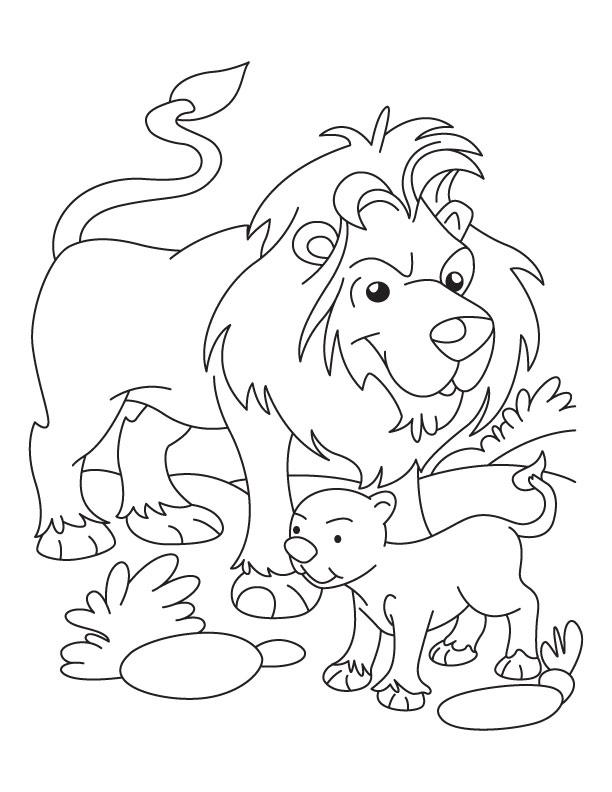 612x792 Lion Lamb Coloring Page Lion And Lamb Coloring Pages Lion Cub