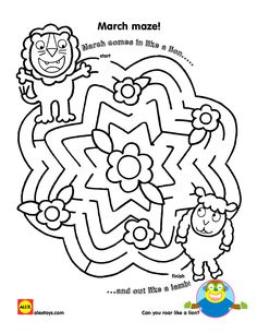 236x305 March Lion And Lamb Maze Printables For Kids Free Word Search