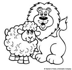 236x230 March Lion Lamb Printable To Color Or Glue Cotton Balls