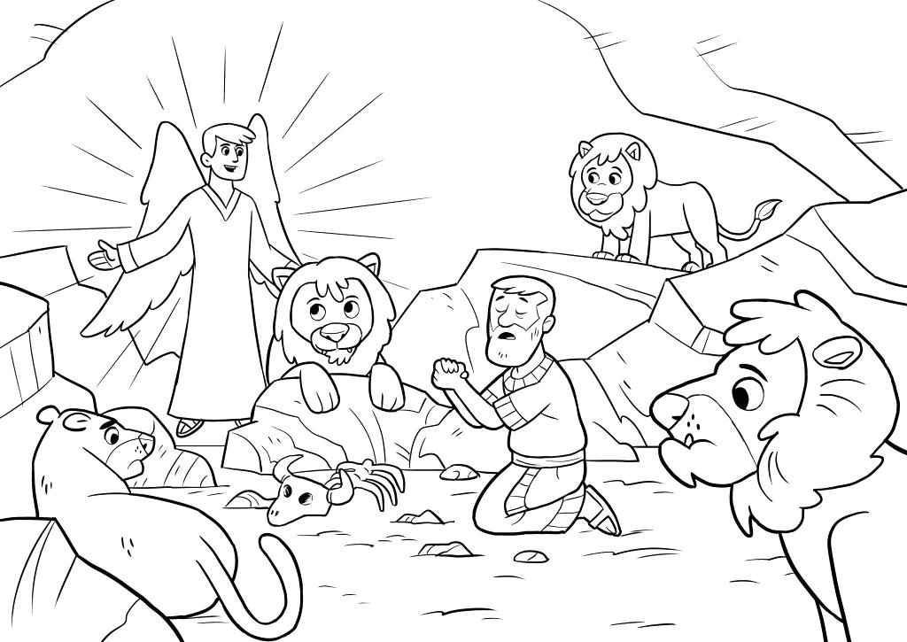 1024x725 Coloring Page Of In The Lions Den Coloring Page Lion Coloring Page