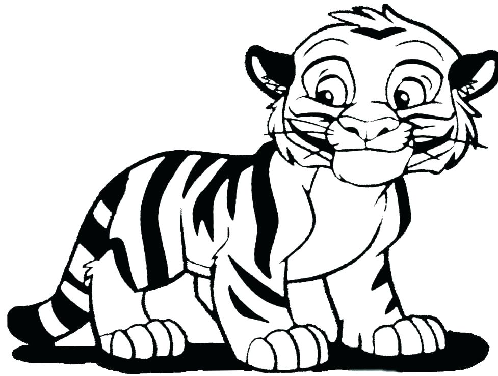 977x739 Tiger Coloring Pages Printable Tiger Coloring Page Tiger Color