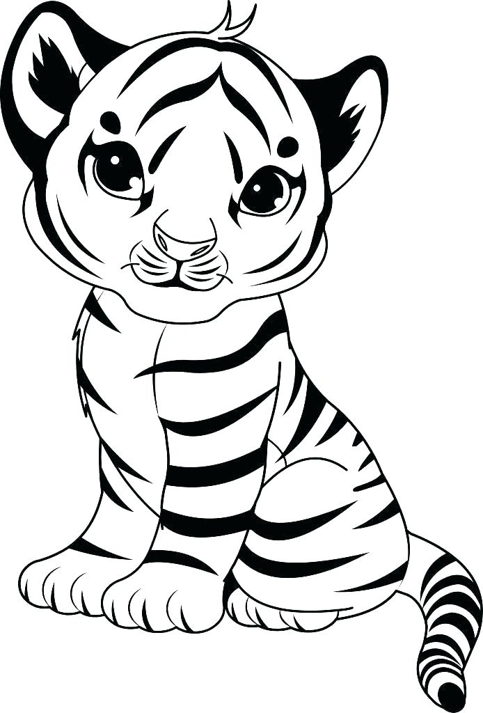 694x1024 Coloring Tiger Coloring Pages Printable Tigers Free For Humorous
