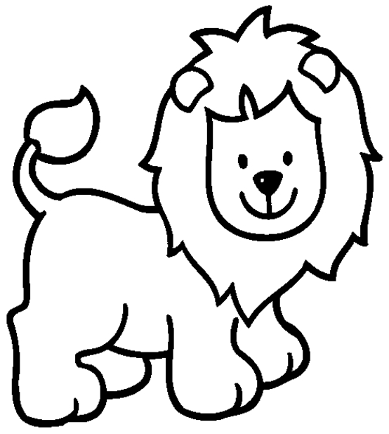 554x617 Cartoon Lion Coloring Pages