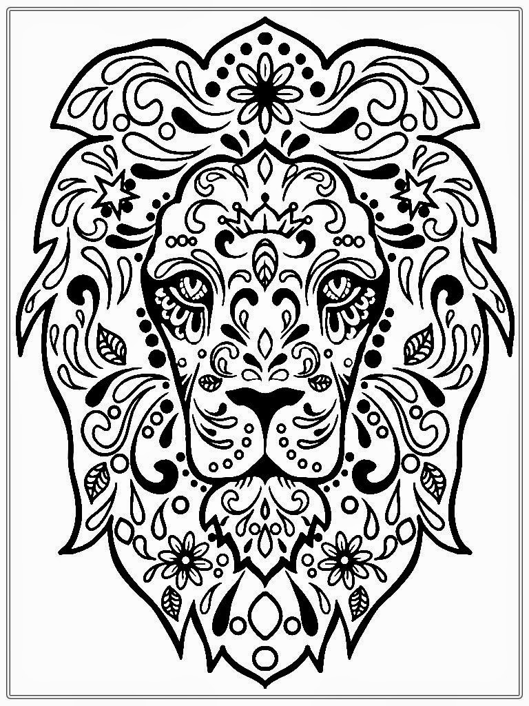 768x1024 Best Of Lion Mandala Coloring Pages Collection Printable