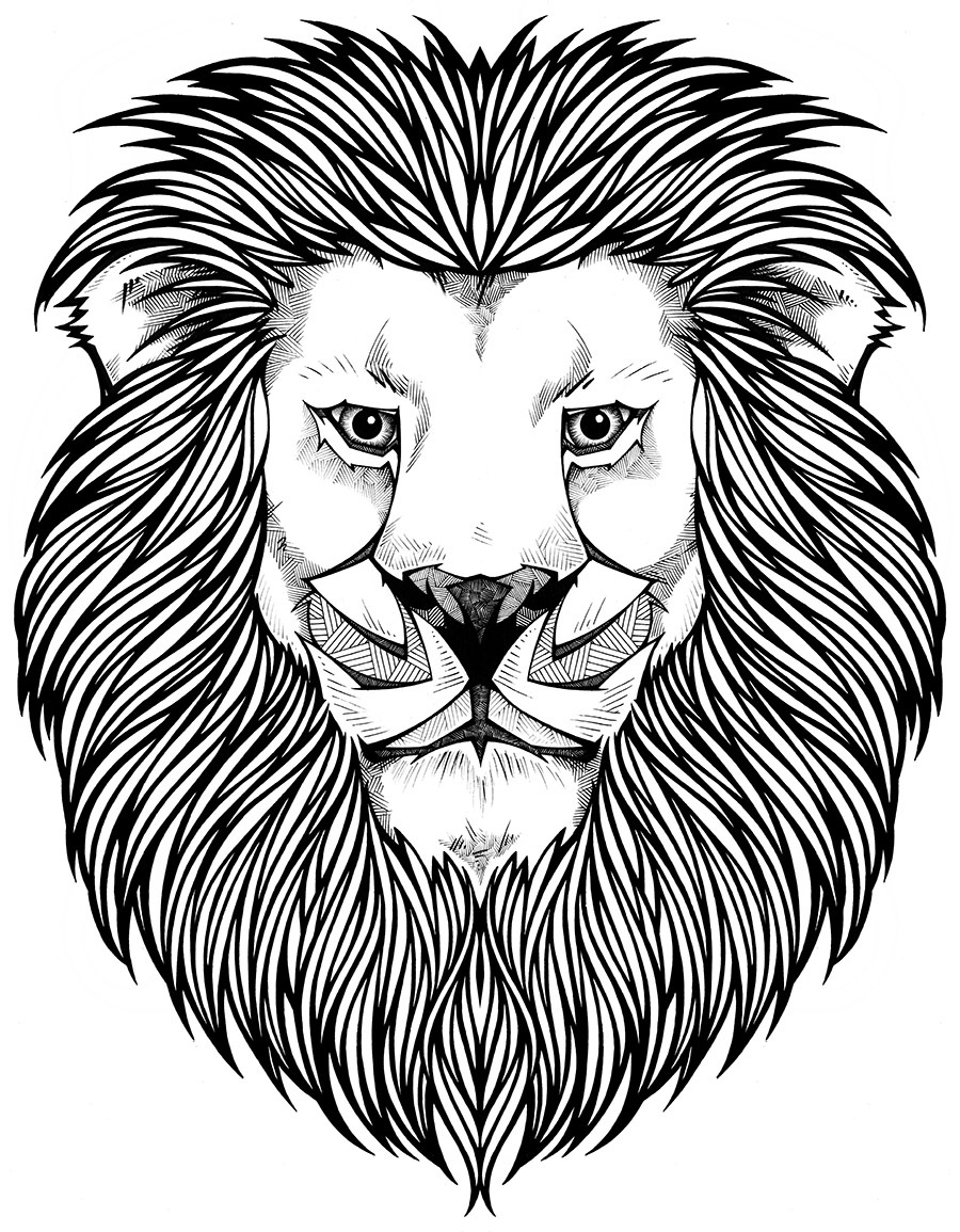 900x1155 Coloring Page Lion Tattoos Lions, Adult Coloring