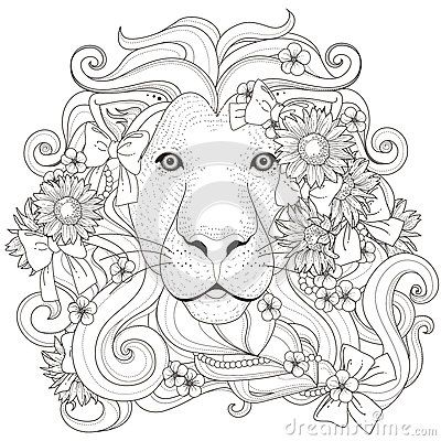 400x400 Image Result For Lion Coloring Pages For Adults Coloring Pages
