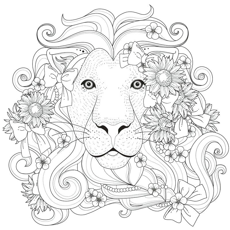 800x800 Lion Coloring Page Anime Princess Coloring Pages Lion Coloring
