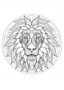 212x300 Mandala Lion