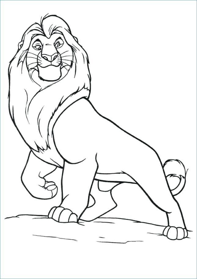 645x912 Free Printable Lion Coloring Pages