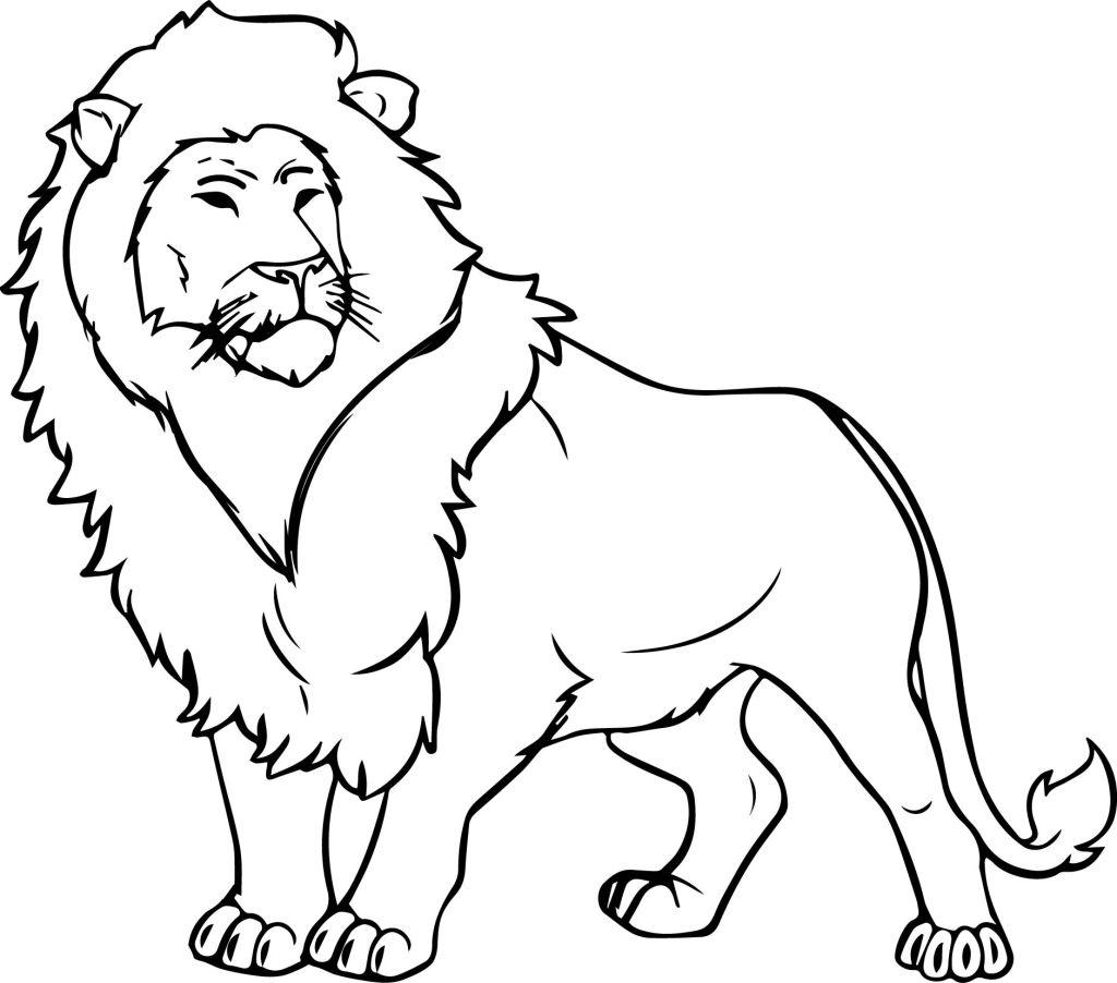 1024x902 Lion Coloring Pages Kids Ribsvigyapan Lion Coloring Pages Coloring