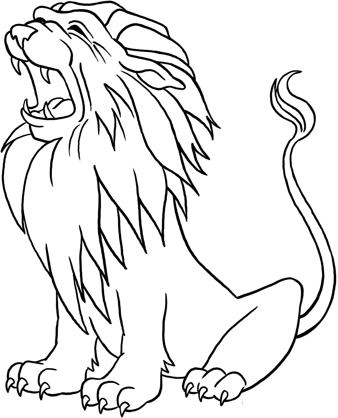 1158x1432 Best Roaring Lion Coloring Pages Free Printable
