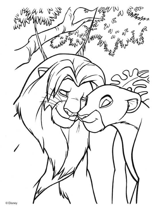 540x728 Coloring Book Pages Lion King