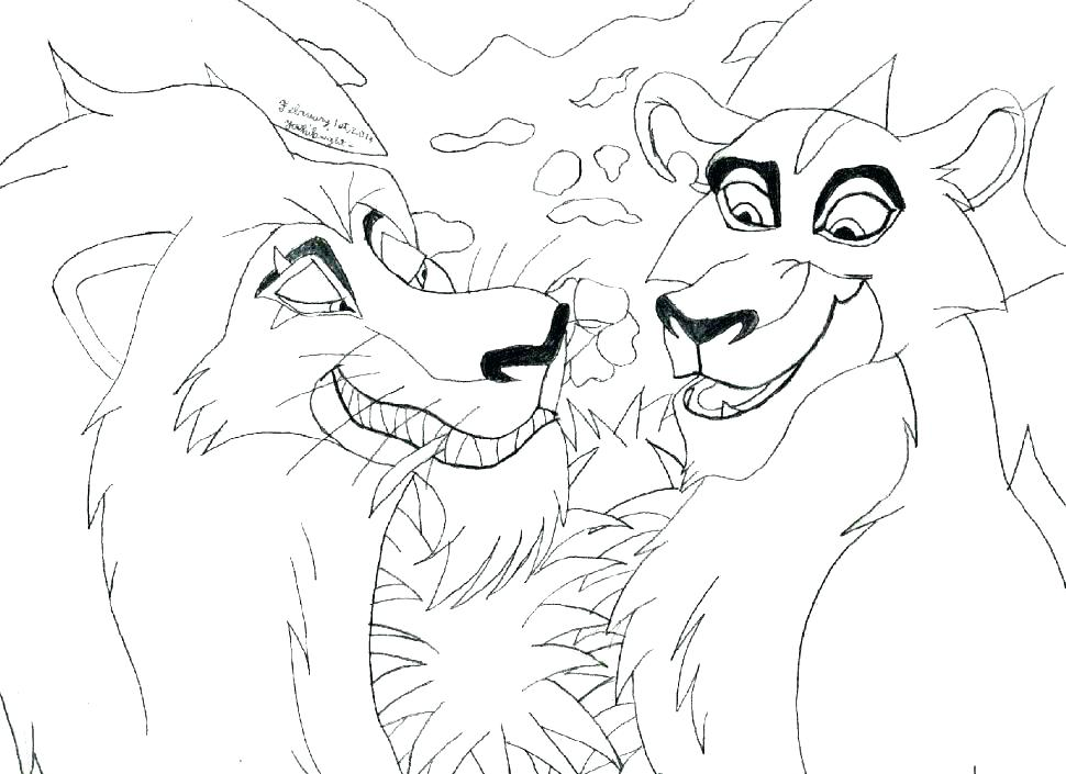 970x705 Coloring Pages To Print Lion King Page For Kids Lion Coloring