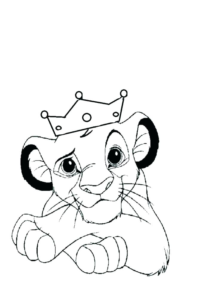 700x989 Baby Lion Coloring Pages