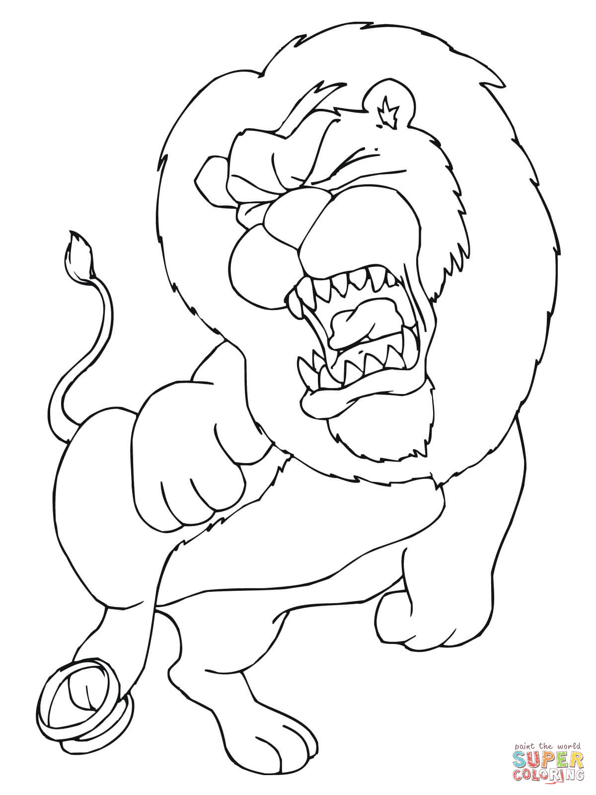 1200x1600 Interesting Coloring Picture Of A Lion Lions P