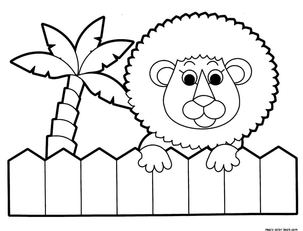 1008x768 Zoo Lion Coloring Pages Online Free