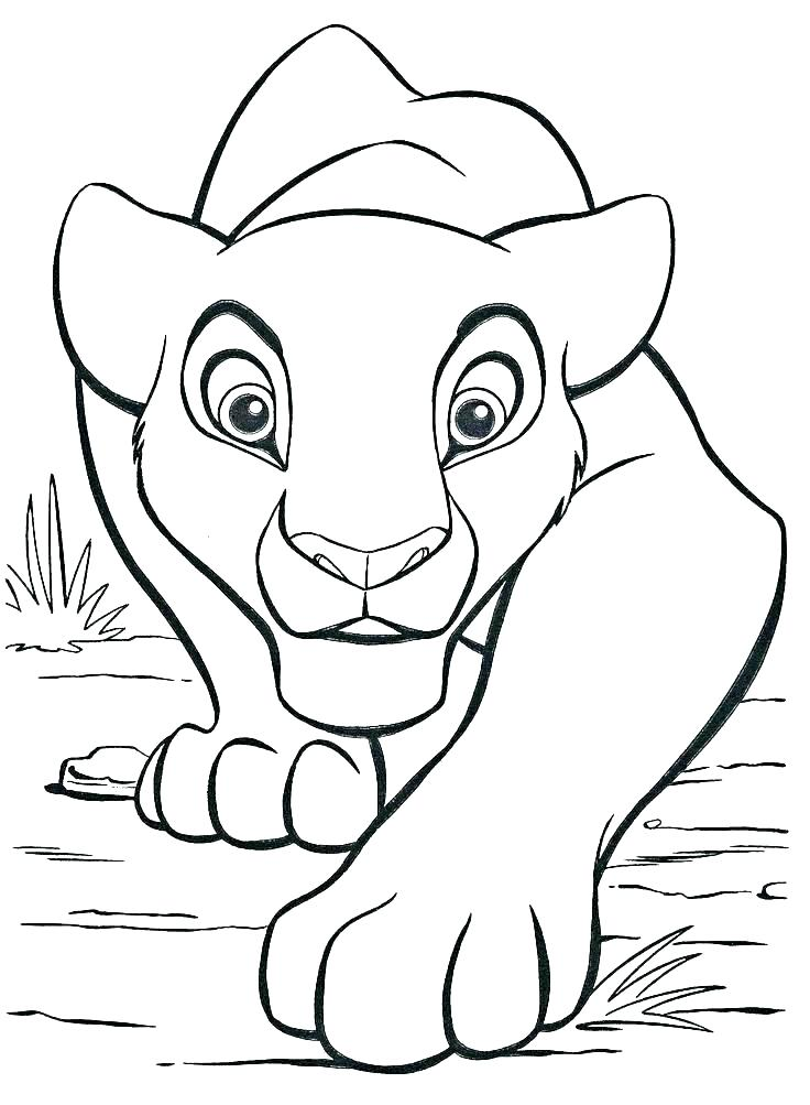 736x1003 Lion Cub Coloring Pages