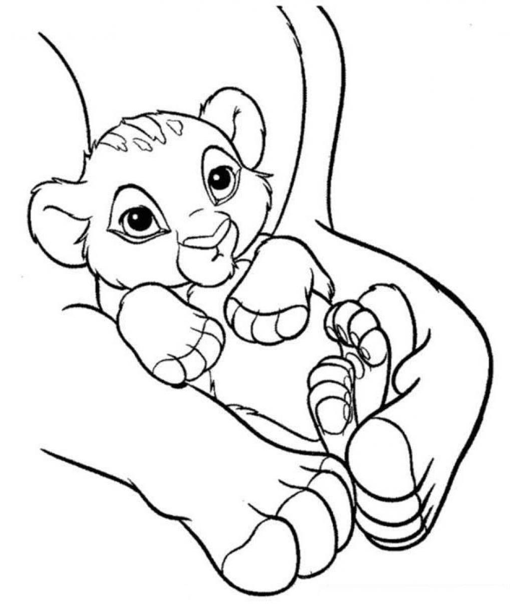 Lion Cub Coloring Pages