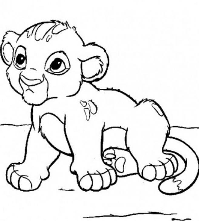 657x730 Lion Cub Baby Animals Coloring Page Free To Print Animal