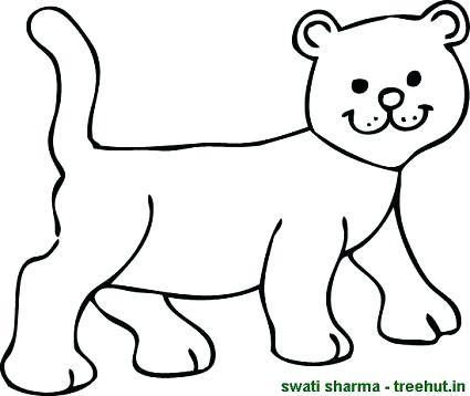 425x358 Lion Cub Coloring Pages Cartoon Lion Coloring Pages Printable Lion
