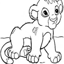 268x268 Coloring Page Of Lion Cub Kids Drawing And Coloring Pages