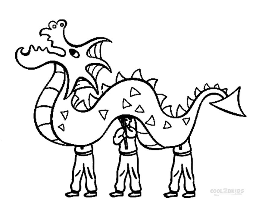 850x700 Cool And Opulent Chinese New Year Coloring Page Lion Dance Kids