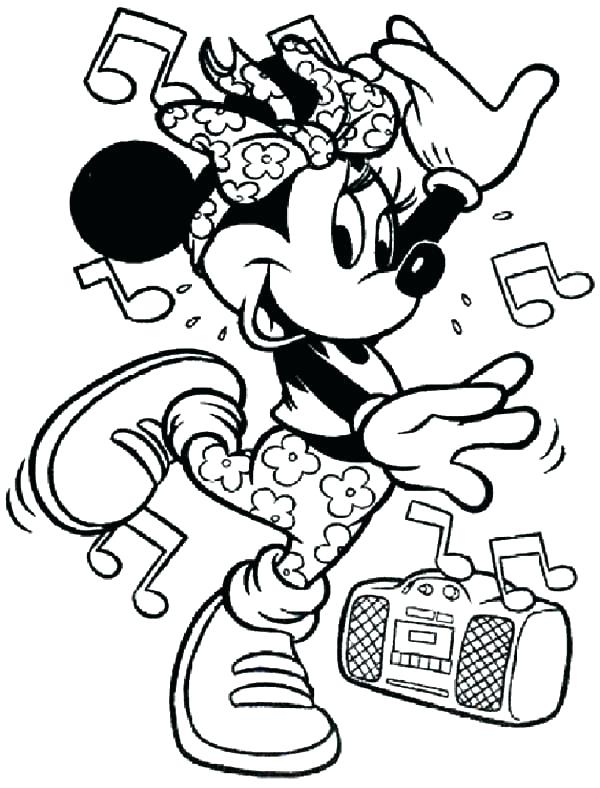 600x788 Dance Coloring Page Mouse Coloring Pages Music Dance Dance Moms