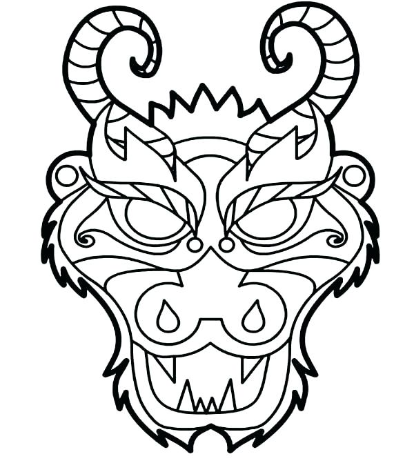 600x671 Elegant Chinese Dragon Coloring Page For China Coloring Pages
