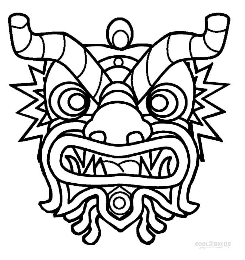 800x850 Printable Chinese New Year Coloring Pages For Kids