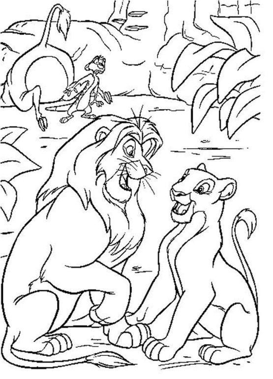 555x768 Disney Lion King Coloring Pages Free Simba With Flowers Coloring