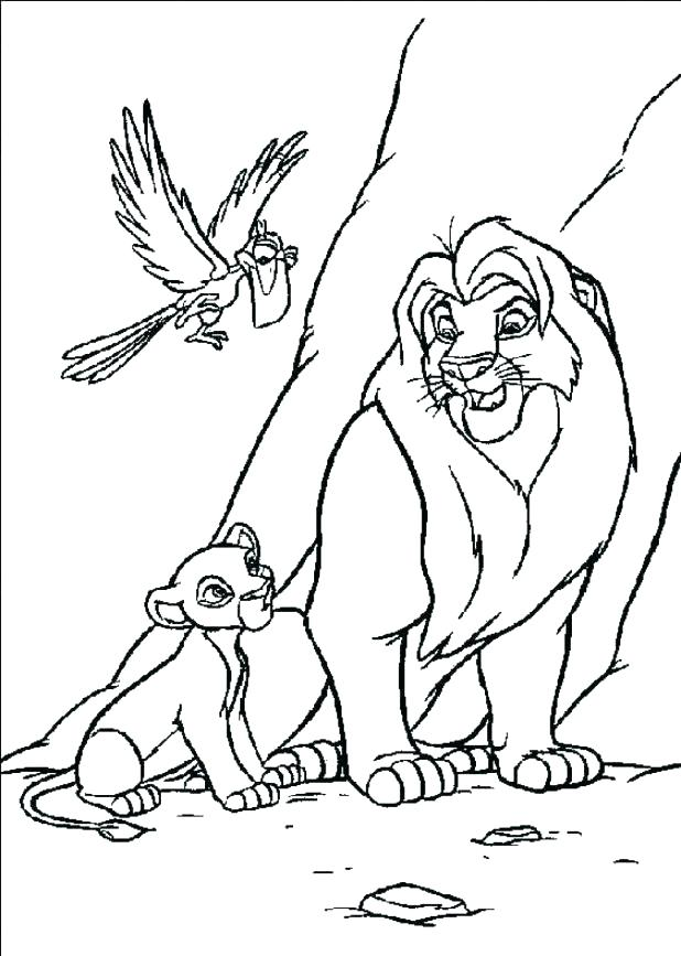 618x867 Lion Drawing For Coloring Lion Family Coloring Pages Lion Drawing