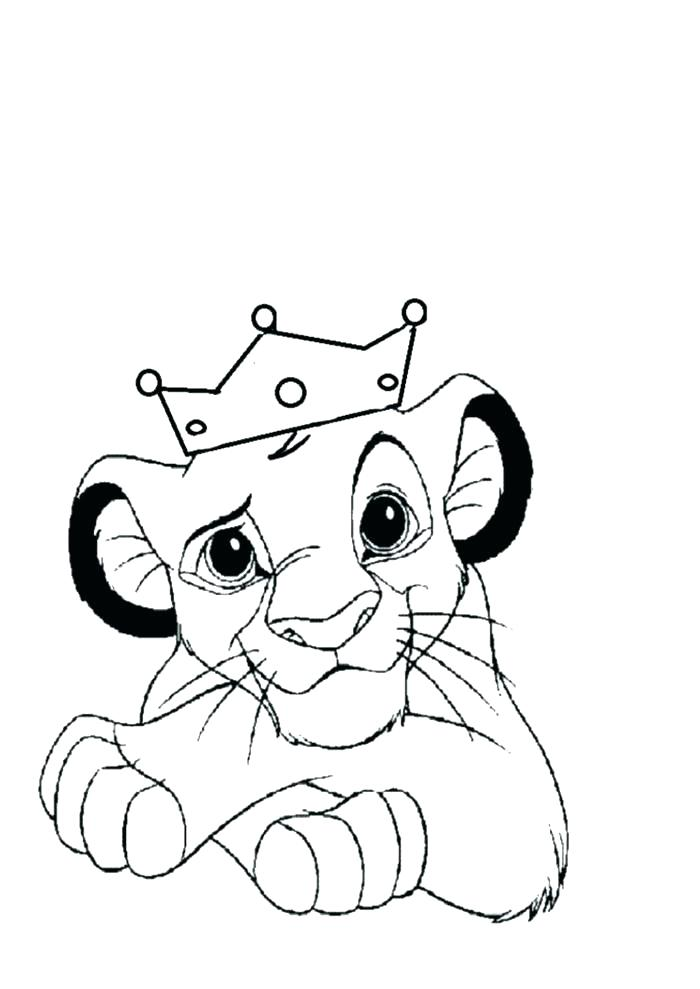 700x989 Beautiful Coloring Page Of A Lion New King Pages Baby The Family